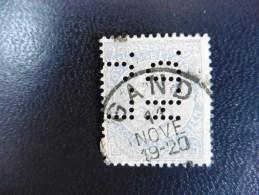 Belgique :Timbre N°60   Perforé  :L.J H.D  Oblitéré - 1934-51