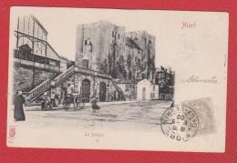 Niort //  Le Donjon  --  Nombreux Timbres Taxes Au Dos - Niort