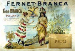 Postcard - Poster Reproduction - Aperitivo Fernet-Branca Milano America 1900 (N0531) - Advertising