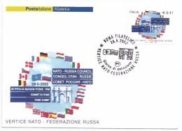 """2002, Poste Italiane -  """"Vertice Nato - Federazione Russa"""". - Non Classificati"""