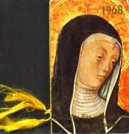 Petit Calendrier Religieux De Poche Année 1968 Relié Par Un Cordon De Soie - Association Sainte Rita De Cascia - B.E. - Petit Format : 1961-70