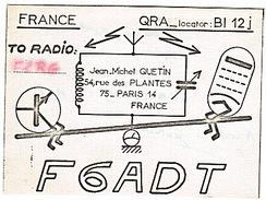 CARTE - RADIO - QSL - PARIS - 14è - 1970 - - Radio Amateur