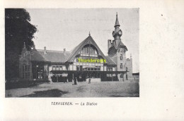 CPA  TERVUEREN LA STATION VED PUB COLUMBA MARGARINE CH VAN DEN BUSSCHE MERXEM - Tervuren