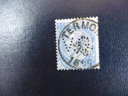 Belgique :Timbre N°60   Perforé   V.G  Oblitéré - Perforés