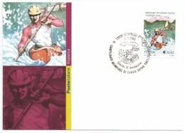 """2002, Poste Italiane - Trapani -  """" Campionati Italiani Di Canoa Kayak In Valsesia"""". - Italia"""