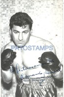 39941 AUTOGRAPHER EDUARDO LAUSSE ARGENTINA 1927 - 1995 SPORTS BOX PHOTO NO POSTAL TYPE POSTCARD - Boxing