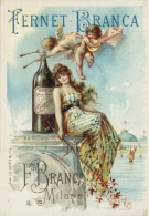 Postcard - Poster Reproduction - Aperitivo Fernet-Branca Milano 1890s (PN0531) - Advertising