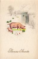 CPA COCHON COCHONS ** CHROMOLITHO PIG PIGS - Cochons