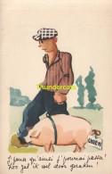 CPA COCHON COCHONS ** CHROMOLITHO PIG PIGS ** DOUANE FRONTIERE  ETS PROTIN VUIDAR LIEGE - Cochons