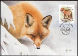 RED FOX  RENARD FUCHS  ZORRO VOLPE ALAND FINLAND 2004 MAXIMUM MAXI CARD CARTE FDC - Other