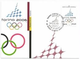 """2002, Poste Italiane - Torino -  """" Giochi Olimpici - Torino 2006"""". - Cartes-Maximum (CM)"""