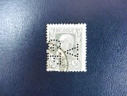 Belgique :Timbre N°78   Perforé   V.G .F Oblitéré - 1934-51