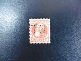 Belgique :Timbre N°74   Perforé   C.L  Oblitéré - 1934-51