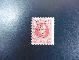 Belgique :Timbre N°202   Perforé  A.M  Oblitéré - 1934-51