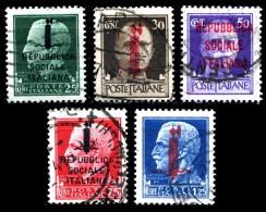 REGNO Repubblica Sociale 1944 RSI Imperiale Soprastampata Fascetti Annullati R.S.I. - 4. 1944-45 Repubblica Sociale
