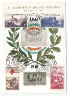 "1961, Poste Italiane - "" XII Giornata Filatelica Trentina - X Mostra Didattico Filatelica"". - Cartoline Maximum"