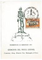"""1971, Gemona Piovega (Ud) """" Inaugurazione Monumento Artigliere Alpino"""". - Cartoline Maximum"""