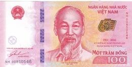New Banknote Vietnam- 100 Dong - Commemorative Bank Note - 2016 - Vietnam