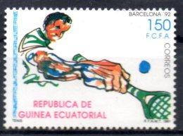 GUINEE EQUATORIALE   N° 266  * *  ( Cote 2.25e )  Jo 1992   Tennis - Tennis