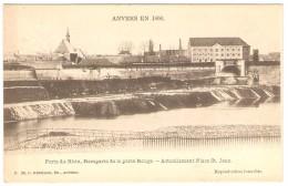 ANVERS EN 1866 -- Porte Du Rhin, Remparts De La Porte Rouge  --  Actuellement Place St. Jean - Antwerpen