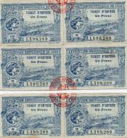 6 Tickets D´entrée De L´exposition Universelle De 1900 à Paris - Tickets - Entradas