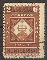 España U 0637 (o) Montserrat. 1931 - 1931-Hoy: 2ª República - ... Juan Carlos I