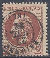 FRANCE 1862 2c Nº 26 - 1862 Napoleon III