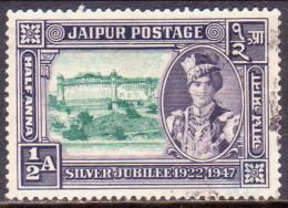 INDIA JAIPUR 1948 SG #73 ½a Used Silver Jubilee Of Maharaja's Accession - Jaipur