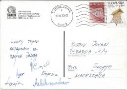 Slovenia Postcard Via Macedonia.nice Stamp. - Slovénie