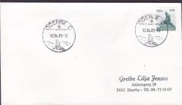 "Denmark Sonderstempel ODENSE C. 1989 Cover Brief Hans Christian Andersen ""Little Mermaid"" In Cancel & Stamp !! - Denemarken"