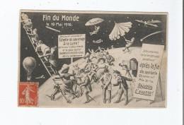 CARTE FUTURISTE FIN DU MONDE LE 19 MAI 1910 - Religions & Beliefs
