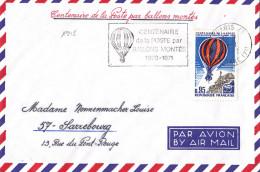 1948# LETTRE Obl PARIS 1971 CENTENAIRE POSTE PAR BALLONS MONTES 1870 1871 ATTERISSAGE A BETZ OISE SARREBOURG MOSELLE - Marcophilie (Lettres)