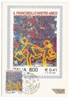 "1999, Poste Italiane - Serie ""Il Francobollo Nostro Amico "" . - Cartoline Maximum"