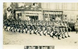 57 - St AVOLD - Défilé De Soldats 14 Juillet 1922 - Carte Photo - Saint-Avold