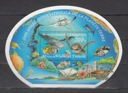 Wallis Et Futuna 2008,1V In Block,fish,vissen,fische,poissons,peche,turtles,schildpadden,schildkröten,MNH/Postfris(L2382 - Poissons