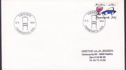 Denmark Sonderstempel TØNDER 1991 Cover Brief Frimærkets Dag Tag Der Jour De Timbre Day Of Stamp - Dänemark