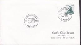 Denmark Sonderstempel KØBENHAVN V. 1989 Cover Brief Kongress '98 Little Mermaid Stamp - Denemarken