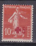 N°146  Type Semeuse Fond Plein Au Profit De La Croix Rouge +5c.s10c Rouge Foncé: Timbe Neuf Légère Trace Charnière - Nuevos