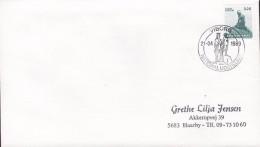 Denmark Sonderstempel VIBORG 1989 Cover Brief National Udstilling Exhibition Little Marmaid Stamp - Denemarken