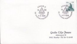 Denmark Sonderstempel ÅRHUS C. 1989 Cover Brief KFUK- Spejder Scouts Pfadfinder Little Marmaid Stamp - Denemarken