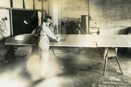 USA Chicago Aviation Service & Transport Ouvrier Aerienne Ancienne Photo 1925 - Aviation