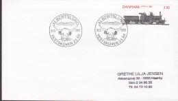 Denmark Sonderstempel ALBERTSLUND 1992 Cover Brief Vestskoven 25 År Cow Kuhe In Cancel !! Train Locomotive Stamp - Dänemark