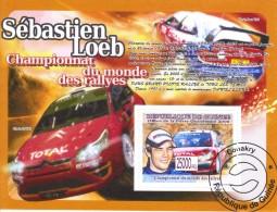 Sébastien Loeb  -  Citroen C4 WRC - Championnat Du Monde Des Rallyes    -  1v  Feuillet/Sheet - Automobile