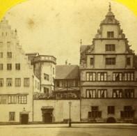 Strasbourg Oeuvre Notre Dame Architecture Ancienne Photo Stereo Stereoscopique F. Peter 1870 - Stereoscopic