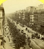 France Paris Boulevard Sebastopol Vue Instantanee Ancienne Photo Stereo Stereoscopique Jouvin 1860 - Stereoscopic
