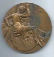 Médaille De Table /Syndicat Général De La Construction Electrique /Etienne MENARD/Bronze/ 1962  MED63 - Professionnels / De Société