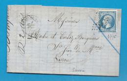 Savoie - St MICHEL DE MAURIENNE Pour St JEAN DE MAURIENNE.  GC + CàD Type 15 - Marcophilie (Lettres)