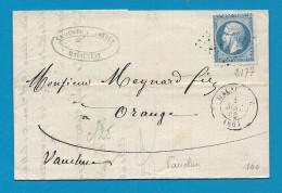 Vaucluse - MALAUCENE Pour ORANGE. GC + CàD Type 15 - Marcophilie (Lettres)