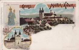 Litho Gruss Aus MARIA KULM - Um 1900, Verlag Regel&Krug Leipzig-R., Vertr.Hans Nachbargauer Wien Währing, ... - Tchéquie