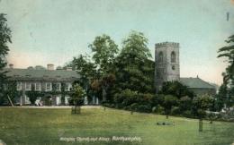 GB NORTHAMPTON / Abington Church And Abbey / COLORED CARD - Northamptonshire